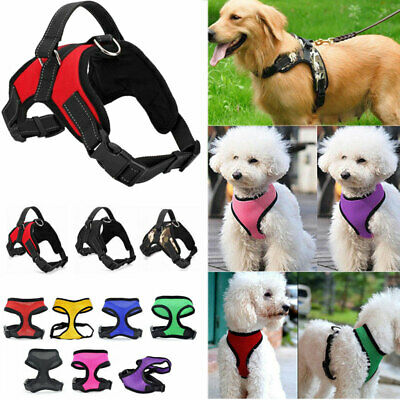 Control Large Dog Harness Adjustable Pet Walk Out Hand Strap Collar Soft S-XL