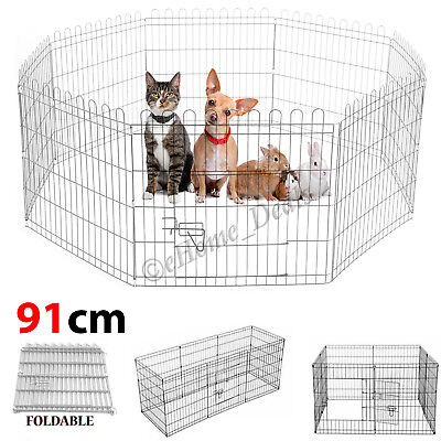 Dog Cage Pet Play Pen Puppy Cat Training Folding Metal Crate Heavyduty 8 Panels