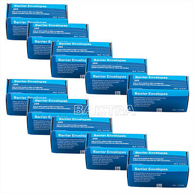 10X 300pcs/pack Dental ORALX-Ray ScanX Barrier Envelopes SIZE #2 size 33*44mm CA