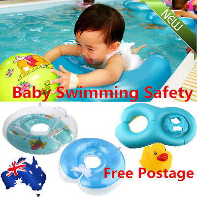 Baby Kids Infant Swimming Neck Float Inflatable Swiming Ring Safety Trainer TU