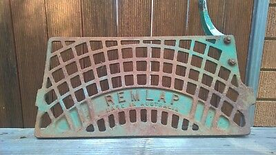 Old Vintage Industrial Cast Iron Foot Pedal Sign Part - Steampunk
