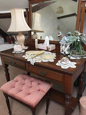 antique side dressing table