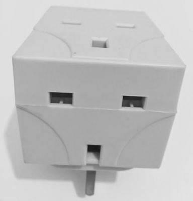 3 Way Socket Multi Plug Fused Adapter Uk Mains 13Amp 240V Ac 3 Socket