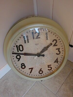 Antique Vintage Industrial Smith Sectric Very large Factory Wall Clock