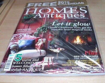 Homes & Antiques magazine JAN 2018 Classic Christmas Style, Gifts + Calendar