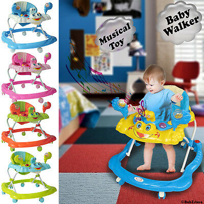 New Baby Walker First Steps Activity Bouncer Musical Toy New Push Along Ride On