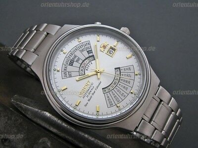 Orient Uhr Multi-Year Calendar Automatic Herrenuhr Men's Wristwatch FEU00002WW