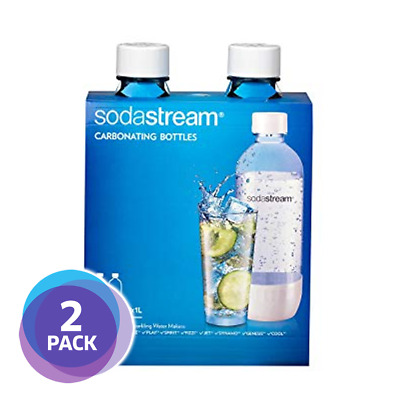 Sodastream 1L Carbonating Bottles - White (Twin Pack) | BPA Free