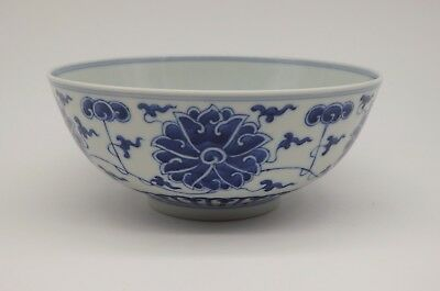 Antique chinese 19th Qing Dynasty Guangxu period Blue and white bowl