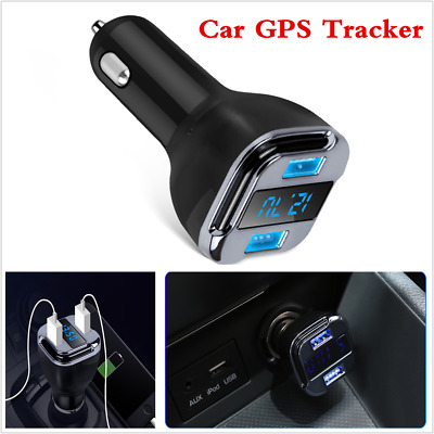 Car GPS Tracker Tracking Device Dual USB 5V 4.2A Car Charger +Voltage Detector