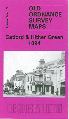 Old Ordnance Survey Map Catford Hither Green 1894 Lewisham Bromley Road
