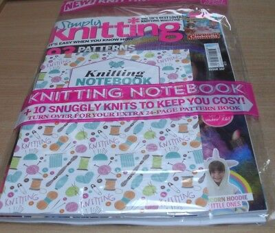 Simply Knitting magazine #167 2017: 93 Patterns & Ideas + Notebook