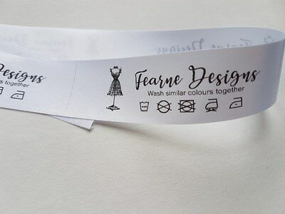 Bespoke wash care Labels garment sewing labels craft professional business