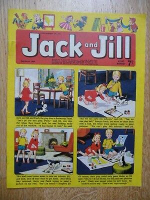 Collectible Jack and Jill Vintage Children's Comic  - 8th March 1969