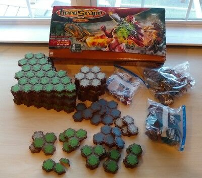 Heroscape lot figures and land game