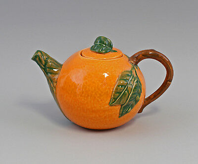9918631 jug Jug Gift Jar Tea Pot Orange Ceramics Majolika Portugal