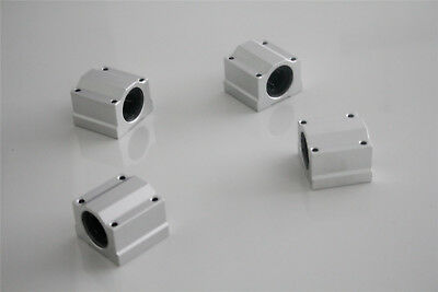 SCS10UU 10mm Linear Ball Bearing Pillow Block Linear Slides Unit for CNC 4Pcs US