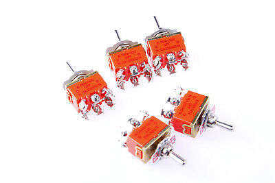 New Amps ON/OFF/ON 3 Position DPDT Toggle Switch AC 250V 15A 5Pcs