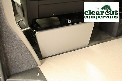 VW T5/T5 Passenger/Driver Single Seat Base Panel, Titanium,15mm Light Weight Ply