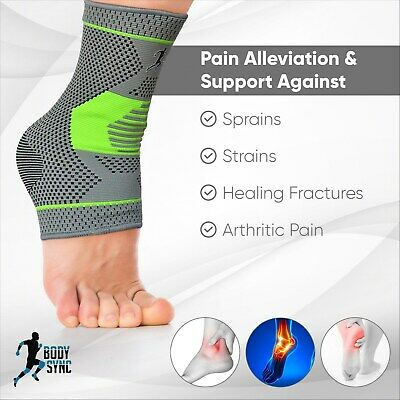 Body Sync Plantar Fasciitis Foot Compression Ankle Support Heel, Arch & Ankle