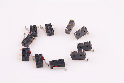Straight Hinge Lever Control Mini Micro Switch SPDT NO+NC KW12 10Pcs US Shipping