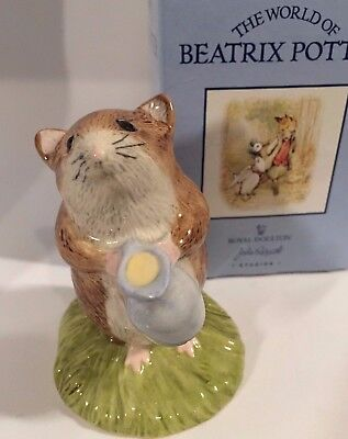 Beatrix Potter Royal Doulton TIMMY WILLIE FETCHING MILK Figurine Original Box