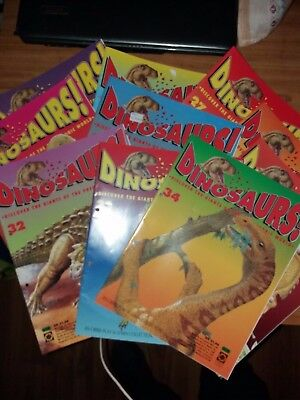 10 Dinosaurs magazine Orbis play & learn Issues 25,26,27,28,29,30,31,32,33,34