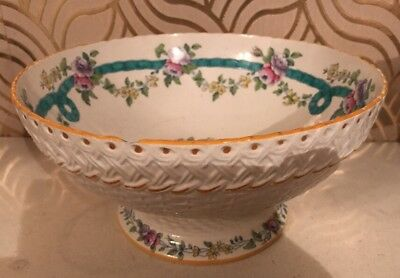 Stunning Victorian Minton Sevres Wreath Fruit Bowl