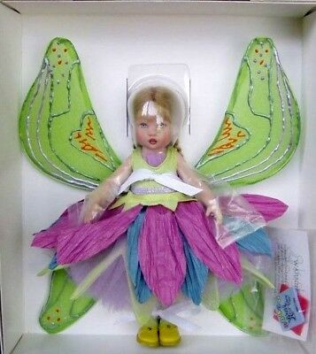 """8"""" 2003 UFDC Excl Kish Lavender Flower Fairy DRESSED DOLL w/ COA NRFB~ULTRA RARE"""