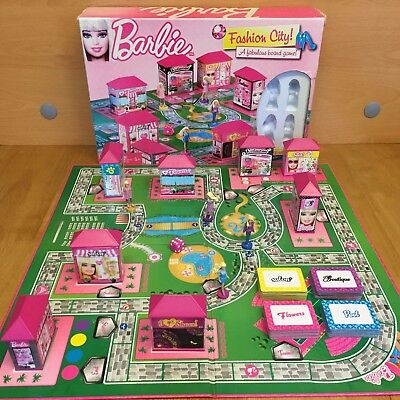 Barbie Fashion City Board Game - Barbie Doll Toy Game / Shopping / Walk 'n' Shop