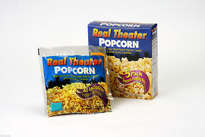 2 - 5pk of Real Theater Popcorn all inclusive Kits