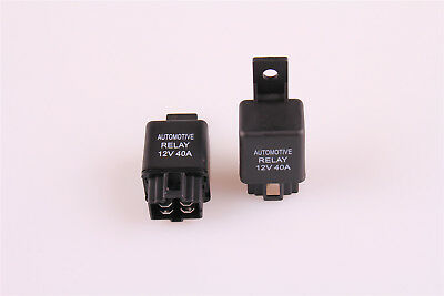 SPST Car Van Auto Automotive Alarm Relay DC 12V 40A AMP 4Pin 2Pcs From US