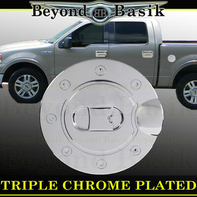 Ford F Triple Abs Chrome Fuel Gas Door Cover Cap