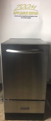 "Kitchenaid Stainless Steel 18"" Under Counter Built In Or Free Stand Ice Machine"
