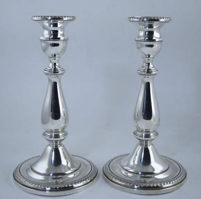 "Vintage MUECK-CAREY STERLING SILVER CANDLESTICKS 8 5/8"" EXCELLENT CONDITION"
