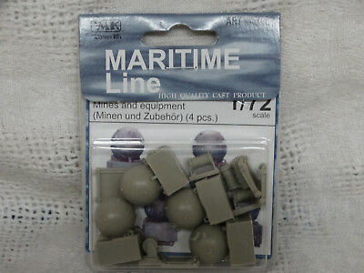 CMK Mines/Equipment model kit 1/72 scale for use with DryDock and other Dioramas