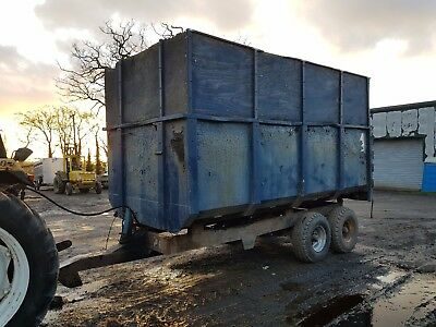 tractor tipping trailer muck trailer twin ram twin wheel 10ton NO VAT WE DELIVER