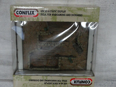Conflix Command Bunker with Roof Model Kit 1/72 for use with Dioramas