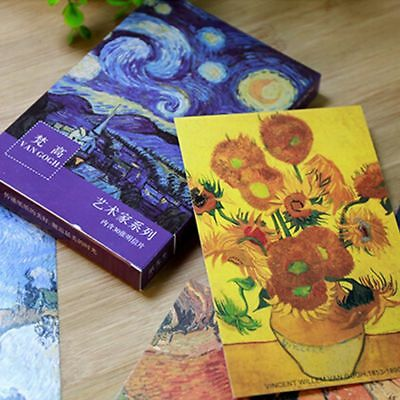 30 PCs/lot & School Supplies Postcards Retro Bookmark Van Gogh Oil Painting
