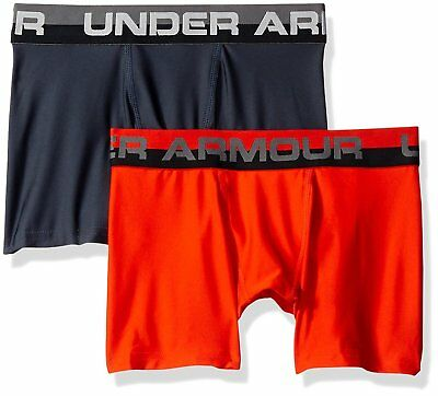 Under Armour Boys Original Series Boxerjock 2-Pack, Volcano/Stealth Gray, Youth