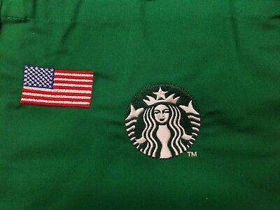 Starbucks Green Apron w/American Flag and Two Pockets NEW