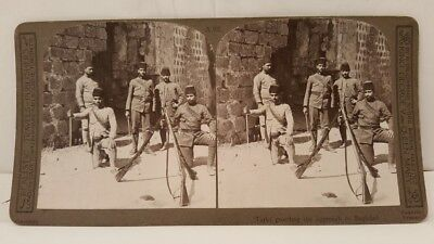 Antique Islamic Photograph Ottoman Soldiers In Baghdat