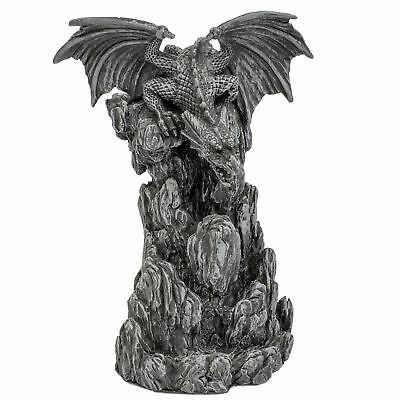 Dragon Backflow Incense Cone Burner Holder Censer Waterfall Gothic Tower Gift