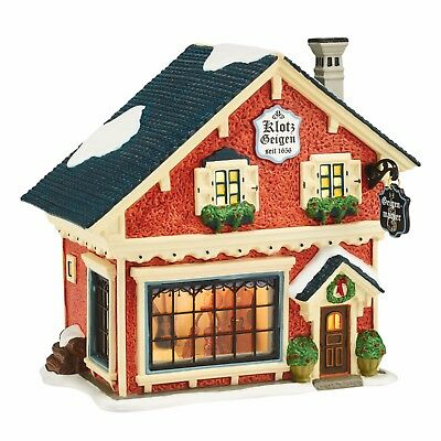 NEW Dept 56 VIOLIN MAKER Alpine Village Retired 4044782 Lighted Christmas NIB