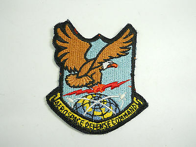 Military Aero Space Defense Command Patch Eagle lighting Globe Patch