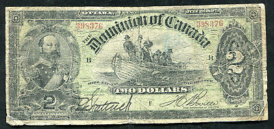 DC-14c 1897 $2 TWO DOLLARS DOMINON OF CANADA BANKNOTE