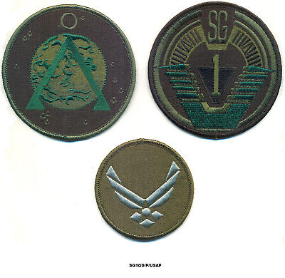 Stargate Sg-1 Patch Set / Olive Drab  Set #2
