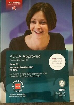ACCA P6 Advanced Taxation FA2016 P&R Kit by BPP for Exams up to March 2018