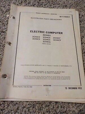 Technical Orders Electric Computer Models 2CH4C2 4,7,3,5,9,6 General Electric