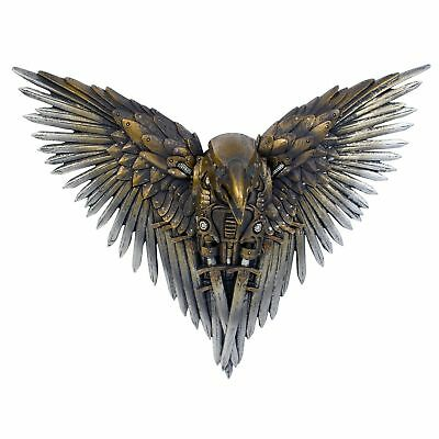 Blade Raven Steampunk Art Wall Hanging 27cm Gothic Ornament Sword Wing Figurine